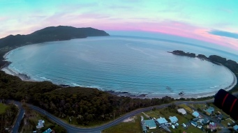 Eaglehawk Neck / Pirates Bay from the air.