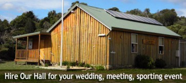 Eaglehawk Neck Hall can be hired for weddings, meetings, sporting events,