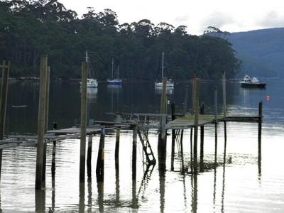 Wooden jetties