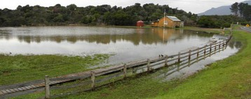 Eaglehawk Neck in Flood 2013