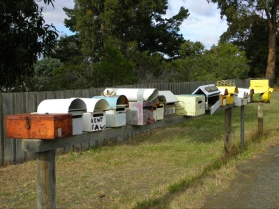 Line of Letterboxes