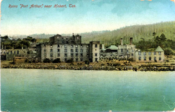 Early picture of ruins at Port Arthur - Photo courtesy National Trust Archives.