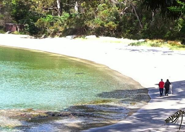 Photo: Jan Field - Beach below Lufra Hotel.