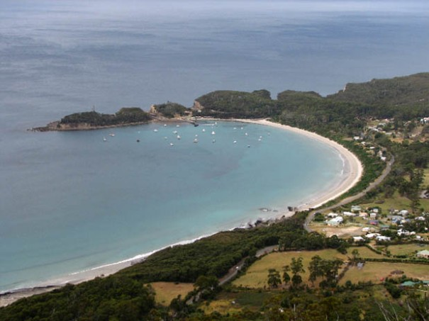 Photo: Arthur Orchard – panorama from hang gliders lookout.